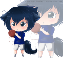 : Chibi Neko Sasuke : by Apple-Neko