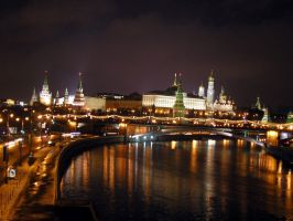 Moscow at night by Terza