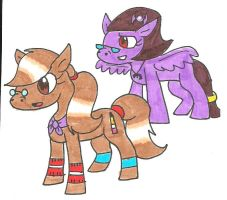 MLP FIM: Shelby and Carly by cmara