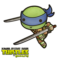 Leonardo - Kawaii Mutant Ninja Turtles by SquidPig