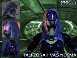 Mass Effect - Tali Wallpaper by Slavka13748