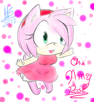Chibi Cutie: Amy Rose by SerafinaTheHedgehog