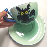 Adorable Baby Toothless Cup and Saucer Set by AliceDreamChaser