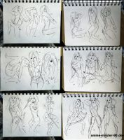 149 - 166 (1000 gesture drawing challenge) by anime-master-96