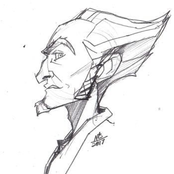 Count Olaf Sketch by ConstantScribbles