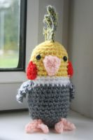 Cockatiel amigurumi by Soggy-Wolfie