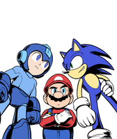 SSB Trio WIP by mivion