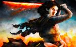 Kylo Ren - Flames by Rinter