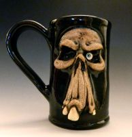 Mr. Skull Beer Mug- for sale on Etsy by thebigduluth