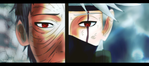 Kakashi and Obito - Naruto 655 by SoAdventure