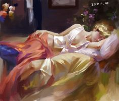 Oil Painting Study1 by HRFleur
