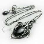 LUNTIRMAX - silver , black onyx and spinel by LUNARIEEN