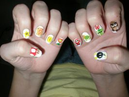 Mario nails by Happylod3