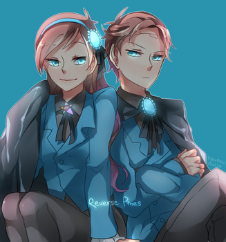 Reverse Twins by trudyfish