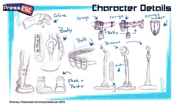 Press Esc: Character Details by AndrewArtist