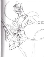 Enigma and Duela sketch 2 by Comix-Chick