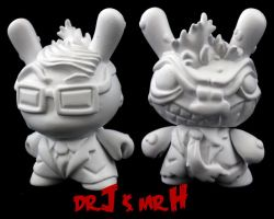 Dunny Monster : DIY Dr. J / Mr. H by zombiemonkie