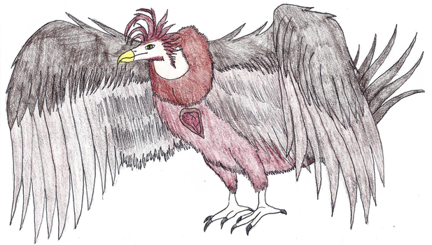 Fire stone vulture monster EMW by Planetofmonsters