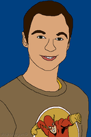 MS Paint Sheldon Cooper The Big Bang Theory by creativeoaf