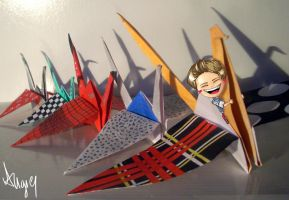 (JHand1000papercranes) On the Wings of the Crane by AngieKrasiva