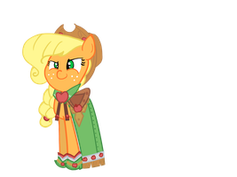 applejack at the gala by nintendoes