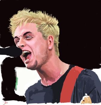 Billie Joe Armstrong - Green Day - Color study by LeeDerivedCos