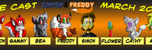 Simon and Freddy - The Cast by Hukley