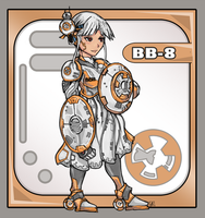 BB8 Personified Droid Girl by bulletproofturtleman