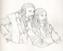 The Hobbit- Durin bros by westofnowhere