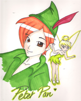 Peter and Tink by Foreveryoung8