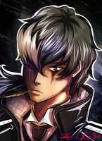 Ace Attorney Simon Blackquill by zelka94