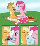 AJ and Pinkie have a picnic by Elslowmo