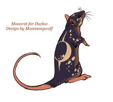 Moon Rat for Duzloo by MoonsongWolf