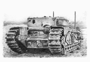 Churchill 3-Inch Gun Carrier by Rajaahsani