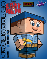 Disney Felix Jr Cubeecraft Wreck it Ralph by SKGaleana