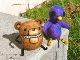Beartato and Reginald by FamiliarOddlings