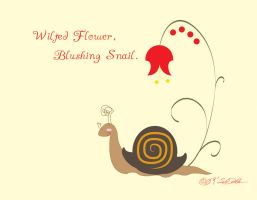 Wilted Flower, Blushing Snail by helvainia