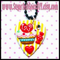 Cupcake Love Necklace by SugarAndSpiceDIY