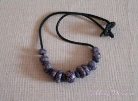 Purple Painted Beads. by Moon-Q