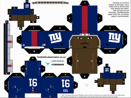 Justin Tuck Giants Cubee by etchings13