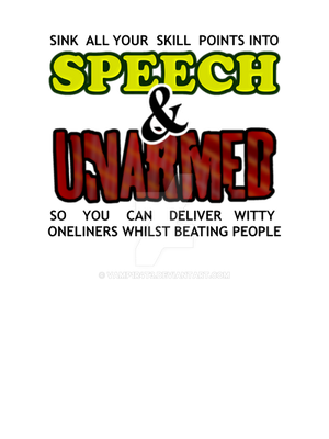 TShirt Design Speech and Unarmed by VamP1R4T3