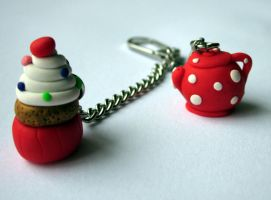 Teapot Keyring by JewelleryByABC
