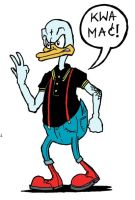 Skinhead Donald Duck by brzoza77