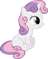 Sweetie Belle Sitting Around by Alphanz