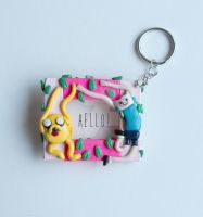 Finn And Jake Polymer Clay Frame by ArtzieRush