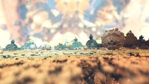 Field of pyramids by Crist-JRoger