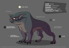 Reference Sheet: Nameless Beast by bestiaexmachina