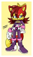 Fiona in Rouge's Sonic Heroes outfit by LeatherRuffian