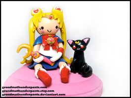 Sailor Moon + Luna Figure by GrandmaThunderpants
