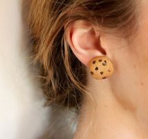 Polymer Clay Cookie Earrings by AliceWHatter